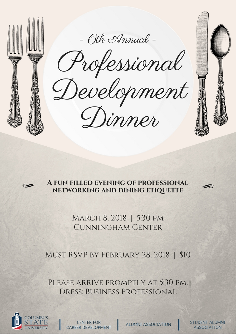 Professional Development Dinner Columbus State University